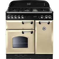 RANGEMASTER Classic 90 Dual Fuel Range Cooker - Cream & Chrome, Cream
