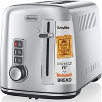 BREVILLE The Perfect Fit for Warburtons VTT570 2-Slice Toaster - Stainless Steel, Stainless Steel