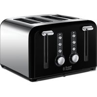 RUSSELL HOBBS Windsor 22832 4-Slice Toaster - Black, Black