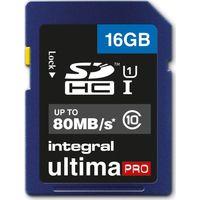 INTEGRAL UltimaPro Class 10 SDHC Memory Card - 16 GB