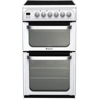 HOTPOINT Ultima HUE53PS Electric Ceramic Cooker - White, White