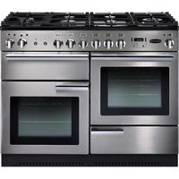 RANGEMASTER Professional 110 Gas Range Cooker - Stainless Steel & Chrome, Stainless Steel