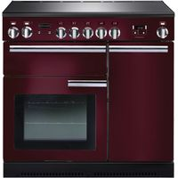 RANGEMASTER Professional 90 Electric Induction Range Cooker - Cranberry & Chrome, Cranberry