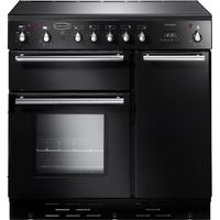 RANGEMASTER Toledo 90 Electric Ceramic Range Cooker - Black & Satin, Black