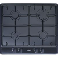 STOVES SGH600E Gas Hob - Black, Black