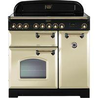 RANGEMASTER Classic Deluxe 90 Electric Range Cooker - Cream & Bronze, Cream