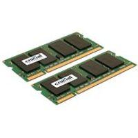 Crucial - DDR2 - 8 GB : 2 x 4 GB - SO-DIMM 200-pin