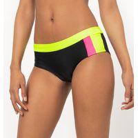 Fluorescent Three-Tone Shorty-Style Bikini Bottoms