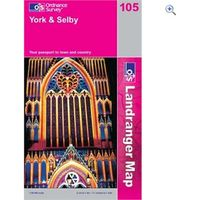 Ordnance Survey Landranger 105 York and Selby Map Book - Colour: 105