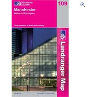 Ordnance Survey Landranger 109 Manchester and Bolton Map Book - Colour: 109