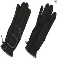 Harry Hall Domy Suede Riding Gloves - Size: S - Colour: Black