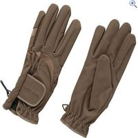 Harry Hall Domy Suede Riding Gloves - Size: M - Colour: Brown