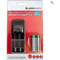 AgfaPhoto AccuCharger with 2 x AA 1300 Batteries