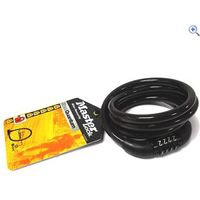 Master Lock Self Coiling Cable Combination Lock - Colour: Black