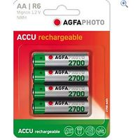 AgfaPhoto AA Ni-MH 2700 Rechargeable Batteries (4 pack)