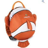 LittleLife Clownfish Daysack with Rein - Colour: Orange