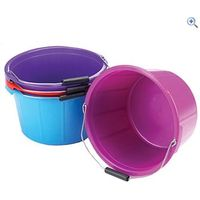 Lincoln Mould Flex Feed Bucket (20 Litre, Red) - Colour: Red