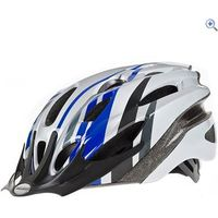Raleigh Mission Cycling Helmet (Blue/Silver) - Size: M - Colour: Blue And Silver