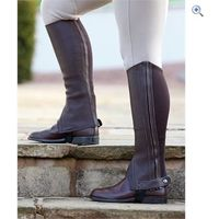 Shires Performance Cantley Leather Half Chaps - Size: XL - Colour: Brown