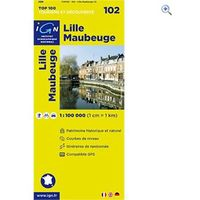 IGN Maps TOP 100 Series: 102 Lille / Maubeuge Folded Map