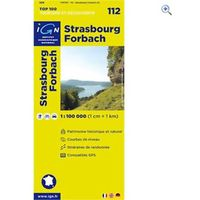IGN Maps TOP 100 Series: 112 Strasbourg / Forbach Folded Map