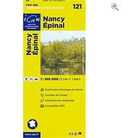 IGN Maps TOP 100 Series: 121 Nancy / Epinal Folded Map