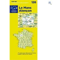 IGN Maps TOP 100 Series: 126 Le Mans / Alencon Folded Map