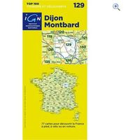IGN Maps TOP 100 Series: 129 Dijon / Montbard Folded Map