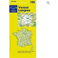 IGN Maps TOP 100 Series: 130 Vesoul / Langres Folded Map