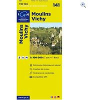 IGN Maps TOP 100 Series: 141 Moulins / Vichy Folded Map