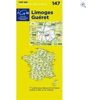 IGN Maps TOP 100 Series: 147 Limoges / Gueret Folded Map