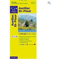 IGN Maps TOP 100 Series: 155 Aurillac / St-Flour Folded Map