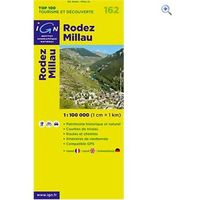 IGN Maps TOP 100 Series: 162 Rodez / Millau Folded Map