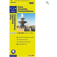 IGN Maps TOP 100 Series: 190 Paris/Chantilly/Fontainebleau Folded Map