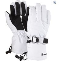 The Edge Meribel Womens Ski Gloves - Colour: White