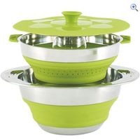 Outwell Collaps Pot with Colander (4.5 litre) - Colour: Green