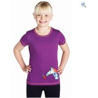 Harry Hall Somerset Junior T-Shirt - Size: 3-4 - Colour: Dewberry Purple