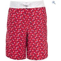 Trespass Kyle Boys Swim Shorts - Size: 3-4 - Colour: Red
