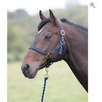 Shires Wessex Headcollar and Lead Rope Set - Size: PONY - Colour: Red