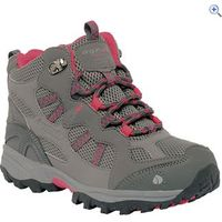 Regatta Crossland Mid Junior Walking Boot - Size: 2 - Colour: CHAR-POP PINK