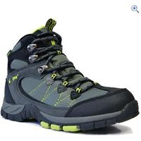 Hi Gear Sakaki Boys Walking Boots - Size: 7 - Colour: CHAR-BLACK-LIME