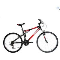 Compass 55 Degree North Steel Full Suspension Mountain Bike - Size: 18 - Colour: Black / Red