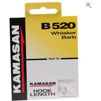 Kamasan B520 Whisker Barb Hook to Nylon, Size 14, pack of 8