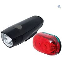Raleigh RX7.0S 1 Led Front & 5 Led Rear Light Set - Colour: Black
