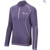 The Edge Transition Kids Zip Neck Baselayer - Size: 2 - Colour: Purple
