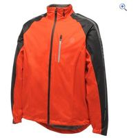 Dare2b Caliber Mens Waterproof Cycling Jacket - Size: L - Colour: FIERY RED-BLACK
