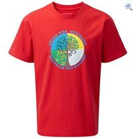 Hi Gear Bosna Boys Tee - Size: 7-8 - Colour: Red
