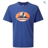 GO Outdoors GO Hiking Mens Tee - Size: XL - Colour: Blue