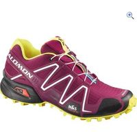 Salomon Speedcross 3 Womens Trail Running Shoes - Size: 4 - Colour: PURPLE-BLK-YEL