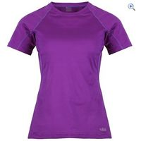 Rab Aeon Plus Womens Tee - Size: 12 - Colour: VELVET